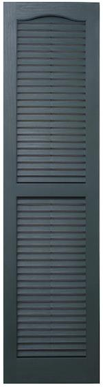 Open Louver Cathedral Top Shutters Usa Exterior