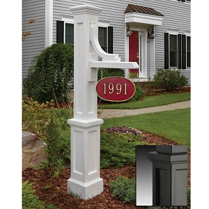 Woodhaven Address Sign Post