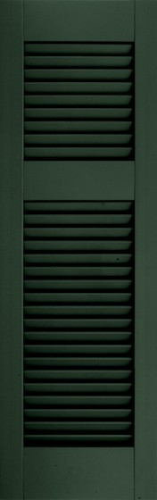 Atlantic Architectural Fiberglass Open Louver w/Offset Rail