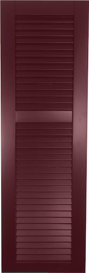 USA Exterior Wood Composite Faux Louver w/Offset Rail