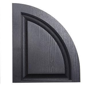 Vinyl Raised Panel Arch Top Shutters Usa Exterior